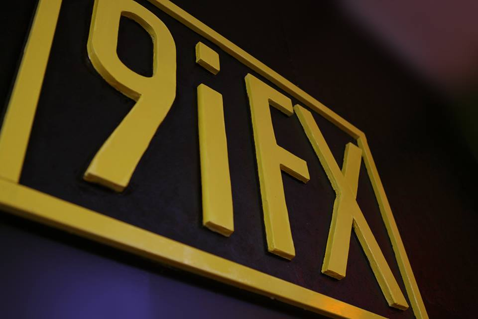 9iFX logo in the new studio in Portland, OR